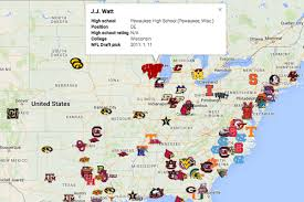 Mls Teams Map Map Where Nfl Draft First Rounders Who Weren U0027t Blue Chip Recruits