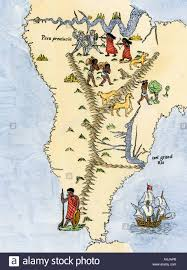 Maps Of South America by Map Of South America From The Sebastian Cabot Map Of The World