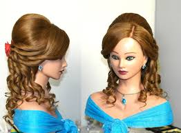 prom bridal hairstyle for medium long hair with curls youtube