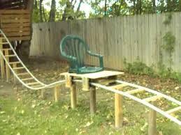 roller coaster for backyard backyard homemade pvc roller coaster thrillium offride test 1