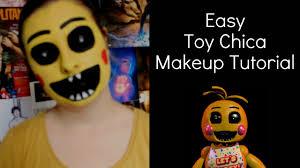 Chica Halloween Costume Fnaf Toy Chica Makeup Tutorial