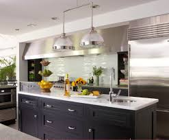 Kitchen Hood Island by Boston Clear Glass Tile Kitchen Contemporary With Stainless Steel