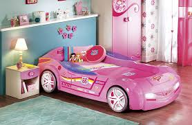 pink kid car cute pink kids room with small barbie car bed and sweet bedding