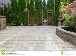 Large Paver Patio by Backyards Terrific Marvelous Backyard Pavers Designs Patterns
