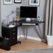 decorating ideas gorgeous black wooden l shaped corner computer