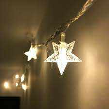 small string lights battery operated gold mesh star led battery operated string lights throughout plan 17