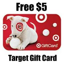 5 gift card 5 target gift card get them free