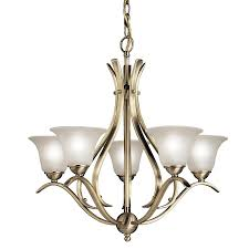 brass light gallery antique brass 5 light chandelier and flemish solid antique brass