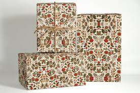 18th century french textile wrapping paper christmas gift