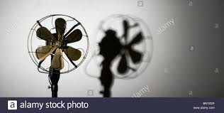 old fashioned electric fan old fashioned electric fan with shadow stock photo royalty free
