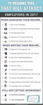 best resume layouts 2017 movies 17 resume tips that will attract employers in 2017 infographic