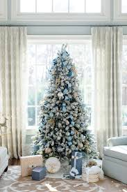 blue christmas decorating ideas a tour of our home flocked