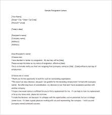 13 employee resignation letter templates u2013 free sample example