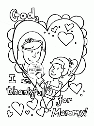 thankful for mommy mother u0027s day coloring page for kids coloring