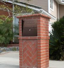 Wall Mount Locking Mailbox Home Depot Exterior Locking Mailbox For Modern Exterior Design With Locking