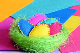 how to make easter eggs felt easter eggs a simple spring craft to make with your kids