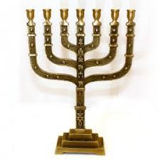 simple menorah grafted in messianic seal of jerusalem menorah george kouz store