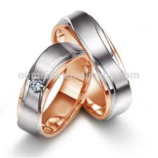 wedding rings couple images Jewelry factory wholesale high quality rose gold plated surgical jpg