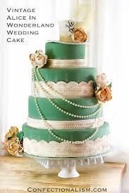 vintage alice in wonderland wedding cake confectionalism