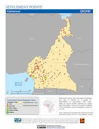 Gabon Map Maps Settlement Points V1 Sedac