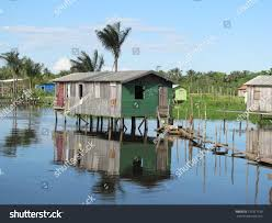 Beach Houses On Stilts by Stilts Houses Cacau Pireira Near Manaus Stock Photo 137317130