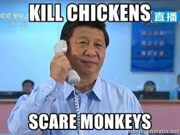 X I Meme - kill chickens scare monkeys xi jinping telephone meme generator