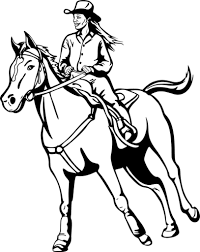cowgirls coloring pages getcoloringpages com