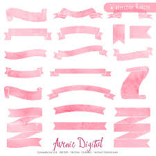 pink ribbon banner clip 49