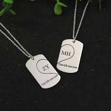 s day necklaces personalized aliexpress buy customized silver 2 pendant necklaces