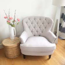 Tufted Upholstered Chairs Going Simply White In Less Than A Day Orc Week 5 The Happy Housie