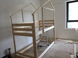 make an indoor playhouse bunk bed ikea mydal hack ikea hackers