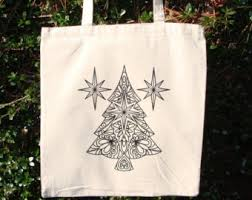tree tote bag etsy