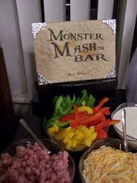 Mashtini Bar Toppings Mash Tini Bar With Condiments This Was Served At A Ladies Night