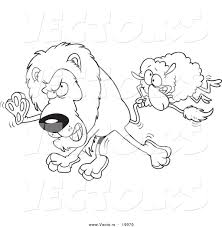 march coloring pages printable vector of a cartoon sheep attacking a lion outlined coloring
