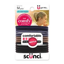 scunci hair scünci hair accessories heathered comfy elastics