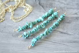 simple turquoise necklace images Diy simple turquoise necklaces the crafted sparrow jpg