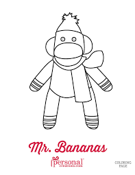christmas sock monkey coloring www personalcreations u2026 flickr