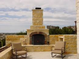 Outdoor Chimney Fireplace by Outdoor Fireplaces Austin Outdoor Living