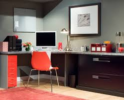 affordable chic office paint ideas with white seat on the wooden