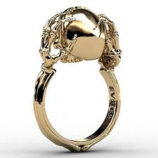 cool jewelry rings images Skull and bones ring gold unique skull jewelry for women jpg