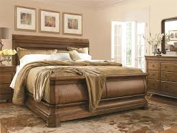 bedroom wooden material of sleigh beds for inspiring bed design