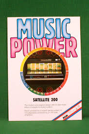 original nsm music power satellite 200 jukebox color brochure