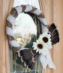 turkey feather wreath turkey feather thanksgiving wreath tutorial