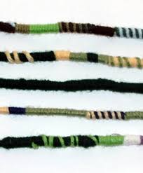 hippie hair wrap green color scheme hippie hair extension qty 1 dreadlocks