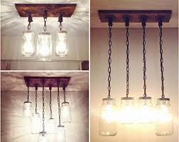 Canning Jar Lights Chandelier Mason Jar Chandelier Etsy