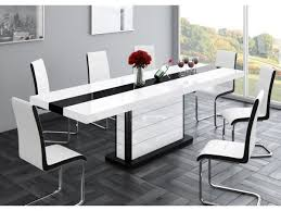 black and white kitchen table black and white dining table new buy high gloss extending online