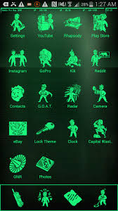 pipboy android may taken it overboard android theme fallout