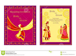 indian wedding invitation card indian wedding invitation card stock vector image 48581700