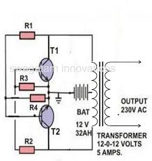 wiring diagram simple inverter circuit diagram 12v to 220v 12vac