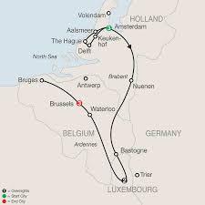 Holland Map Map Holland Luxembourg U0026 Belgium 2017